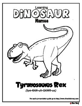 Learn dinosaur names - T-Rex