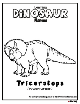 Learn dinosaur names - Triceratops