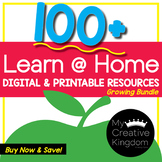 Learn from Home Distance / Blended Learning PreK-K GROWING Bundle