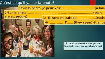Learn how to describe a photo in French.  Qu'est-ce qu'il y a sur la photo?