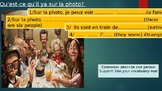 Learn how to describe a photo in French.  Qu'est-ce qu'il