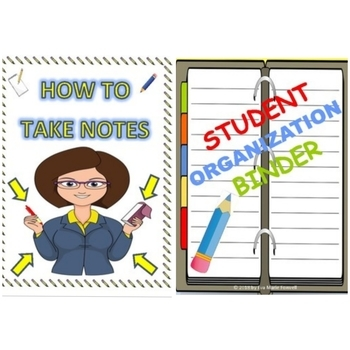 ***BUNDLE***Learn how to take notes and Student binder organization with rubric