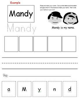 Learn my name cut & paste (Editable)