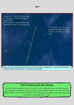 Learn stars and constellations using realistic night sky pictures. S1. December.