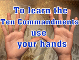Learn the 10 Commandments using your hands VBS Sunday School