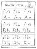 Learn the 5 Senses Printable Alphabet Tracing Worksheets.