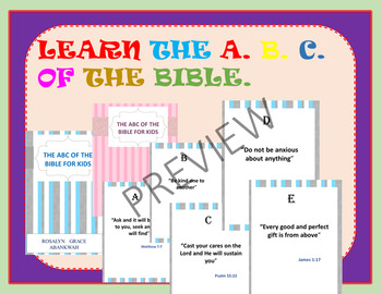 Learn the A.B.C of the Bible( My Child knows the Word Printable)
