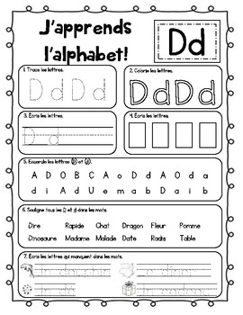 Learn the Alphabet (French resource - J'apprends l'aphabet)