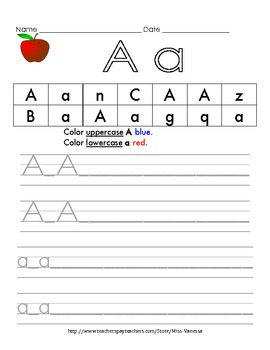 Learn the Alphabet! - Handwriting and Letter Identification Common Core Aligned