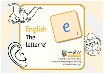Learn the Alphabet: The letter 'e'