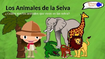 Learn the Animals of the Jungle in Spanish! (Presentation