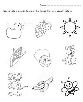 Color Recognition Worksheets