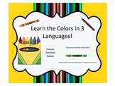Learn the Colors in 3 Languages