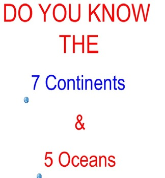 Learn the Continents & Oceans