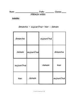 Lesson 3: Days of the Week, La Semaine -- Lundi matin