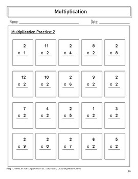 Learn the Facts!  Multiplication Facts 0 - 12