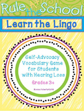 Learn the Lingo - Self-Advocacy Vocabulary Game for Studen