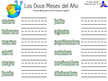 Learn the Months of the Year in Spanish!