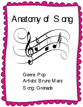 """Learn the Parts of a Song - Analysis of Bruno Mars' Hit Single """"Grenade""""."""