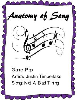 """Learn the Parts of a Song - Analysis of Justin Timberlake's """"Not a Bad Thing"""""""