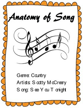 Learn the Parts of a Song - Analysis of Scotty McCreery's