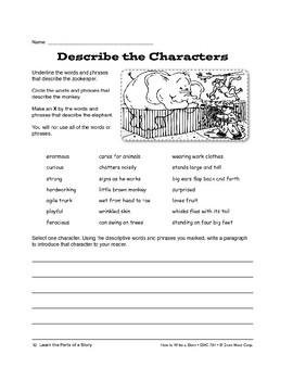 Learn the Parts of a Story: Characters