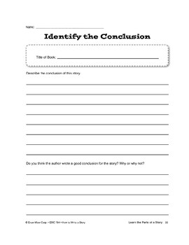 Learn the Parts of a Story: Conclusion