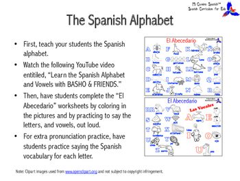 Learn the Spanish Alphabet!