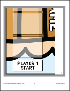 Learn the States Cliff Climb Flash Card Game