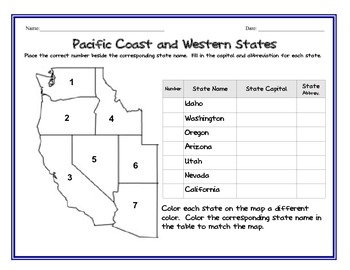 Learn the States: State names, capitals, abbreviations (Printables)