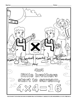 Multiplication Printables to learn the Times Tables with 'Times To Remember'