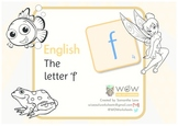 Learn the alphabet: The letter 'f'