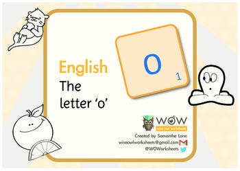Learn the alphabet: The letter 'o'