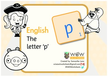 Learn the alphabet: The letter 'p'