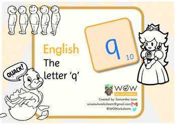 Learn the alphabet: The letter 'q'