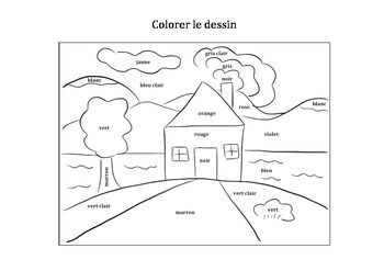 Learn the colors in french (with a drawing)