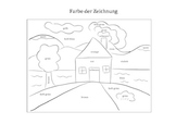 Learn the colors in german (with a drawing)