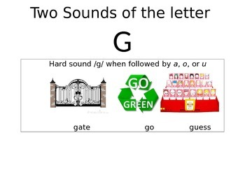 "Learn the two sounds of ""G"""