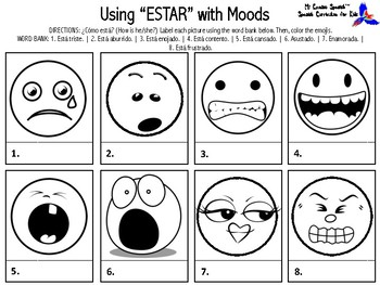 Learn the uses of ESTAR in Spanish! (7 Fun worksheets!)