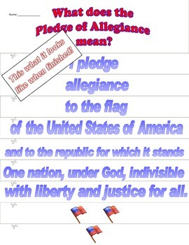 Learn the words to the Pledge of Allegiance