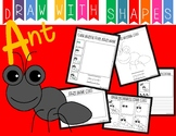 Learn to Draw With Shapes - Letter A Ant