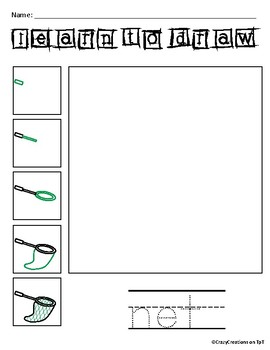Learn to Draw with Shapes - Letter N Net