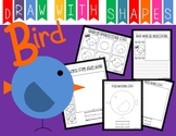 Learn to Draw with Shapes - Letter B Bird