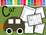 Learn to Draw with Shapes - Letter C Car