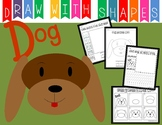 Learn to Draw with Shapes - Letter D Dog