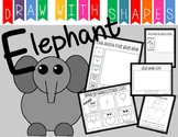 Learn to Draw with Shapes - Letter E Elephant