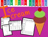 Learn to Draw with Shapes - Letter I Ice cream