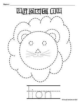Learn to Draw with Shapes - Letter L Lion