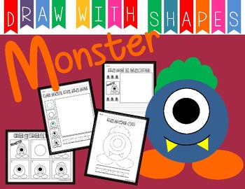 Learn to Draw with Shapes - Letter M Monster
