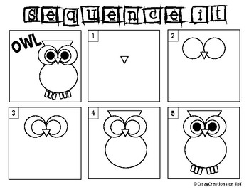 Learn to Draw with Shapes - Letter O Owl